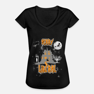 Social Worker Scary Liberal Witch Funny Social Worker Halloween - Camiseta vintage mujer