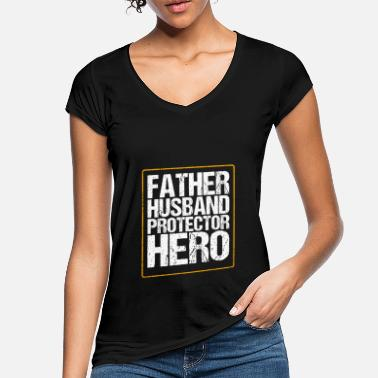 Daughter Father's Day Gift Husband Protector Hero Father - Women's Vintage T-Shirt