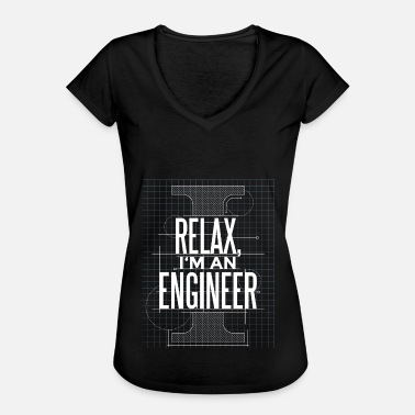 Engineer Engineer Gift Funny Sketch Dad - Women's Vintage T-Shirt