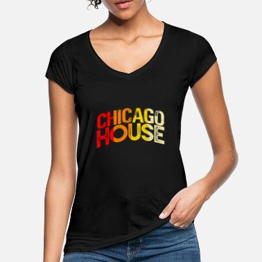 House Retro Chicago House - Women's Vintage T-Shirt