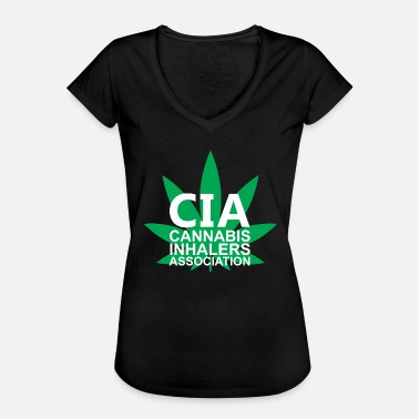 Association Cannabis Inhalers Association - Naisten vintage t-paita
