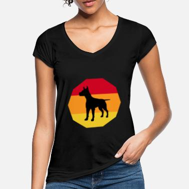 Orange Dobermann Shirt Geschenk - Frauen Vintage T-Shirt