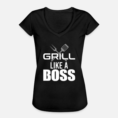 Barbeque Barbeque Grill Boss Barbeque Meal BBQ sausage - Women's Vintage T-Shirt