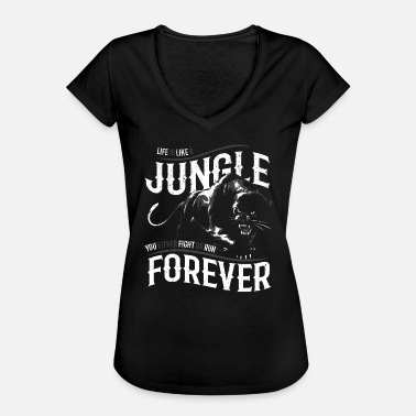 Panter Black Panther Jungle Black Panther Jungle - Vintage-T-shirt dam