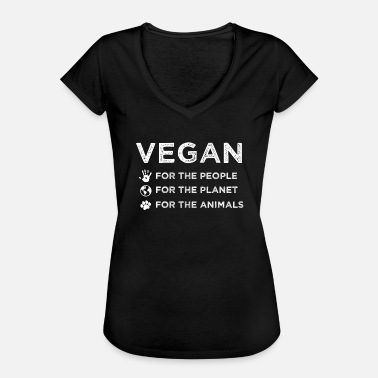 Animal Planet Vegan People Planet Animales Regalo - Camiseta vintage mujer
