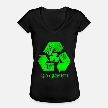 Piss Drink Drink Piss Repeat Go Green Teas - Women's Vintage T-Shirt