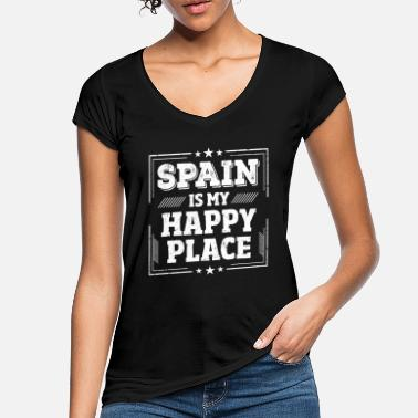 Spain Cool Funny Spain Holiday Sayings Shirt Gift - Women's Vintage T-Shirt