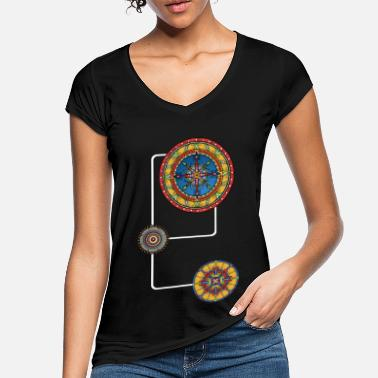 Mandalas 3 Energy Modern the power spirit No.4 - Women's Vintage T-Shirt
