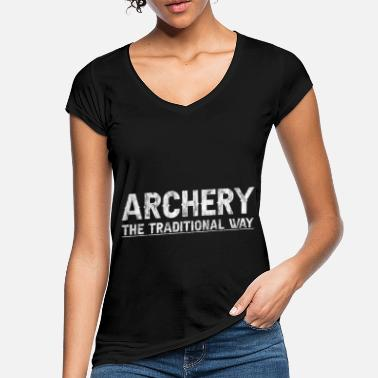 Arbalète Archery, The Traditional Way 3 - T-shirt vintage Femme