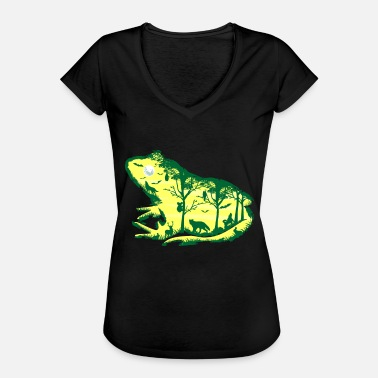 Froggy Night - Vrouwen Vintage T-shirt