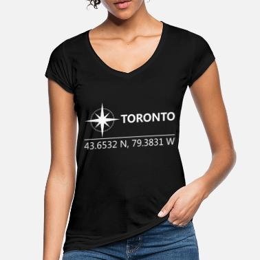 Geographic Toronto Canada Geographic coordinates - Women's Vintage T-Shirt