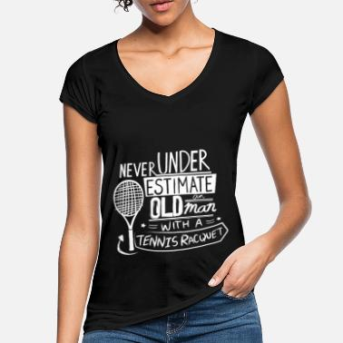 Tennis Funny Tennis Player Gift Idea | Tennis Quotes - Women's Vintage T-Shirt