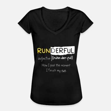 Runners Runner Gift Funny Running Quotes Runderful - Women's Vintage T-Shirt