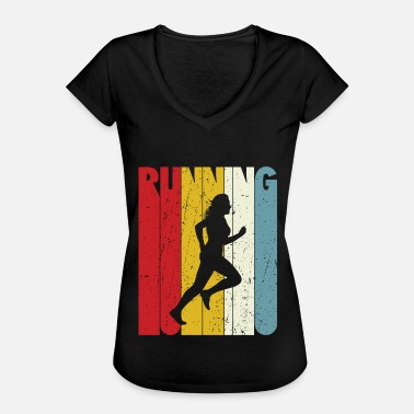 80s Quotes Retro Runner Gift Idea Running Quotes 70s 80s - Women's Vintage T-Shirt