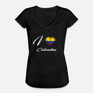 Colombia I Love Home Country Flag Roots Colombia - Women's Vintage T-Shirt