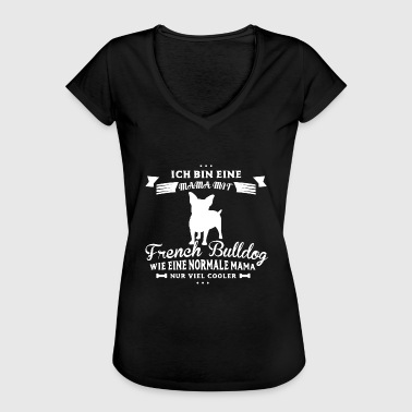 French Bulldog Shirt-Mama - Frauen Vintage T-Shirt