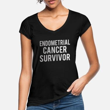 Endometrial Cancer Poison Endometrial Cancer: Endometrial Cancer Survivor - Women's Vintage T-Shirt