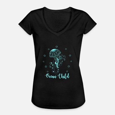 Jelly Babies Cool Ocean Child Gifts. Love the Sea.Jelly Fish - Women's Vintage T-Shirt