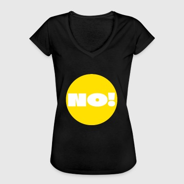 Big Point Point, Yellow, answer, reply, question, Dot, Nerd - Frauen Vintage T-Shirt