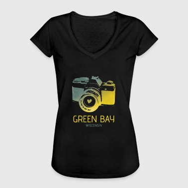 Green Bay camera with heart - Women's Vintage T-Shirt