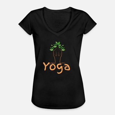 Rekreation Yoga Meditation Mediterende Spirituelt Rekreation - Dame vintage T-shirt