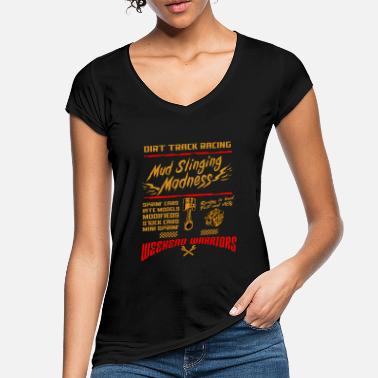 Race Track Dirt Track Racing Mud Race Motor Sport Car Gift - Women's Vintage T-Shirt