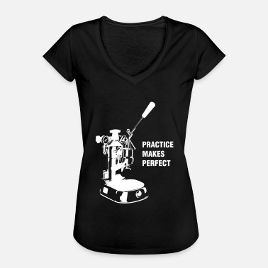 La Pavoni Practice Makes Perfect - White - Women's Vintage T-Shirt