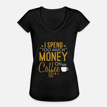 Caffeine Tired Coffee Lovers Gift Caffeine Coffee Cafe Tired - Women's Vintage T-Shirt