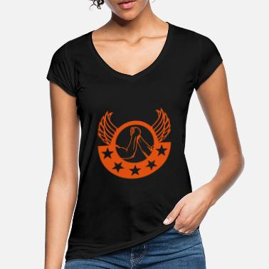 Arms arm wrestling arm iron logo12 - Women's Vintage T-Shirt