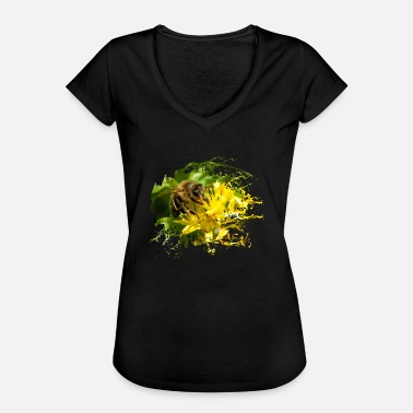 Pollinate Bees pollinate plants and produce sweet honey - Women's Vintage T-Shirt