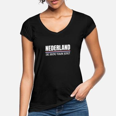 Holland Nederland Ik hou van jou! Dutch Koningsdag Holland - Frauen Vintage T-Shirt