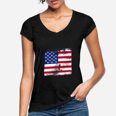 Flag American Flag Use - Women's Vintage T-Shirt