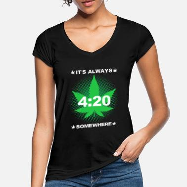 Cannabisleaf its always 420 somewhere weed - Women's Vintage T-Shirt