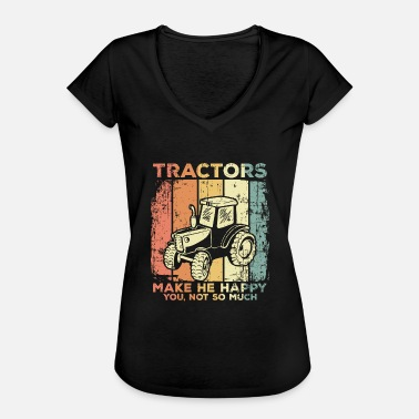 Driving Tractor drive a tractor - Women's Vintage T-Shirt