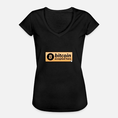 Mousepad BITCOIN ACCEPTED HERE MOUSEPAD CRYPTO - Women's Vintage T-Shirt