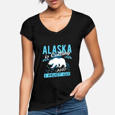 Alaska Alaska Is Calling And I Must Go - Frauen Vintage T-Shirt