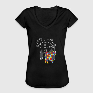 Autism Awareness Autism Day 2018 Baby Elephant - Women's Vintage T-Shirt