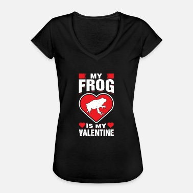 Amphibian My Frog Is My Valentine's Amphibians Pet Animal - Women's Vintage T-Shirt