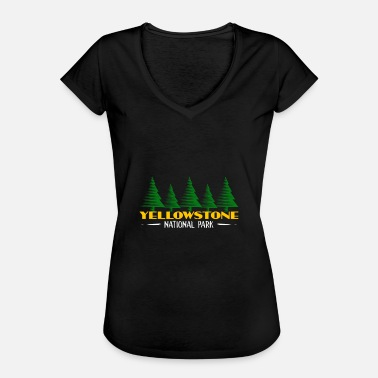 Park Yellowstone National Park Trees Nature Lush Forest - Women's Vintage T-Shirt