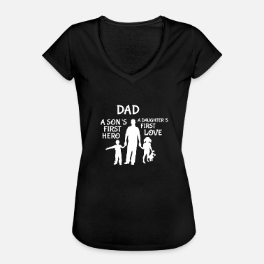 Vaderschap Daddy Family Daughter Son Father's Day Papi Dad - Vrouwen Vintage T-shirt