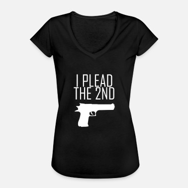 Nra I Plead the 2nd Gun Pistol NRA Gun Shoot - Women's Vintage T-Shirt