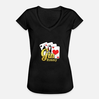 Gin Rummy Gin Rummy Card Deck - Women's Vintage T-Shirt