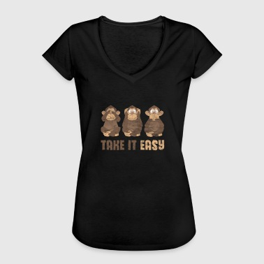 Zoo Gave siger monkey chimpansee zoo party gorilla - Dame vintage T-shirt