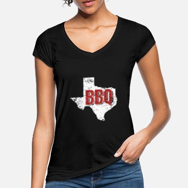 Texas Texas BBQ Barbeque State Distressed - Frauen Vintage T-Shirt