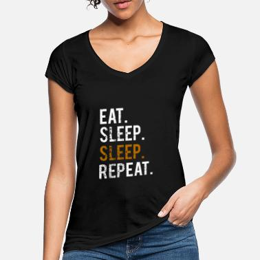 Sinker EATING SLEEPING SLEEPING - REPEATING - Women's Vintage T-Shirt