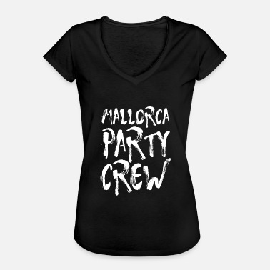 Party Mallorca Party Crew Party Holiday Bere Malle - Maglietta vintage donna