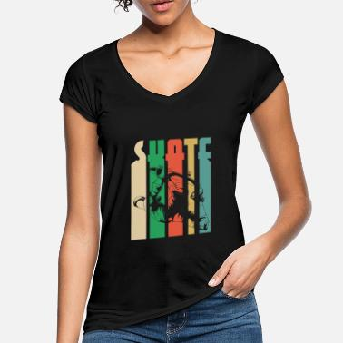 Skater Skateboard Skating Skater Tricks Gift - Women's Vintage T-Shirt