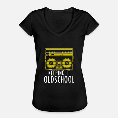 Old School Hip Hop Old School Boombox - Ghettoblaster Music Hip Hop - Camiseta vintage mujer