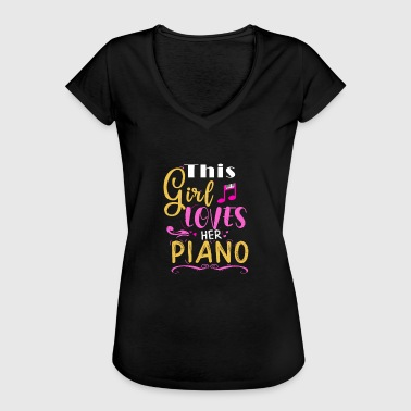 Piano piano girl loving piano lessons - Women's Vintage T-Shirt