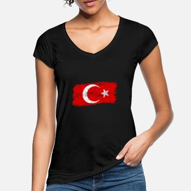 Turkish Distressed Turkey flag - Women's Vintage T-Shirt